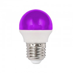 LED F/Round 1.8W E27 Purple