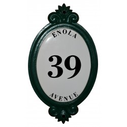 SCROLL HOUSE NUMBER