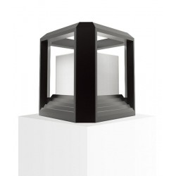 LED Exterior Wall Top Light Black
