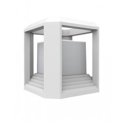 LED Exterior Wall Top Light White