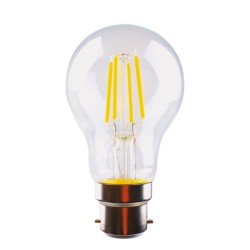 4W LED Filament GLS A60 B22 Warm White Dimmable