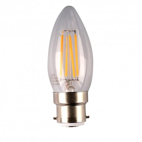 4W LED Filament Candle LED B22 warm White Dimmable