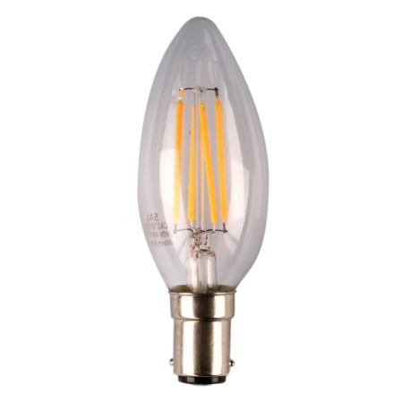 4W LED Filament Candle LED B15 Warm White Dimmable