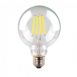 6W LED Filament G95 LED E27 (ES) Warm White Dimmable