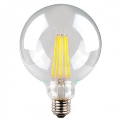 8W LED Filamet G125 LED E27 (ES) Warm White Dimmable