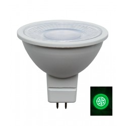 LED MR16 12V AC/DC 5W Green