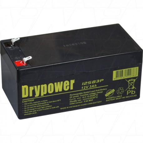 Drypower 12V 3Ah Sealed Lead Acid Battery