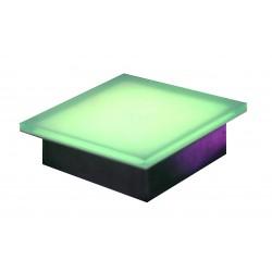 GLASS & STEEL BRICK 8.6 Watt 108 LEDS RGB 200x200x70