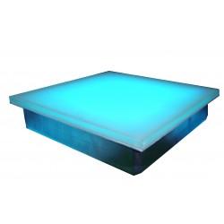 GLASS & STEEL BRICK 22 Watt 255 LEDS RGB 300x300x70