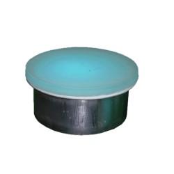 GLASS & STEEL ROUND BRICK 150mm diameter 4.5 Watt 54 LEDS RGB 150x150x70