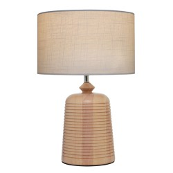 Eira Table Lamp Timber with Off White Shade