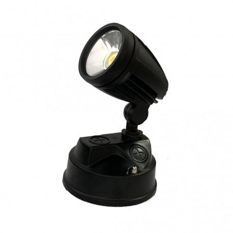 15W Surface Mount Single LED Spot Light Black