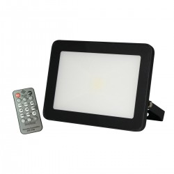 50w Slimline Floodlight with Microwave Sensor, IP65, Black